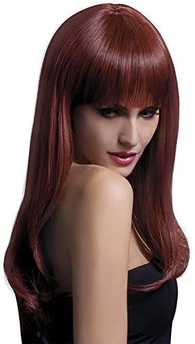 "Fever Women's Sienna Long Feathered Wig with Fringe 26"" Inches"