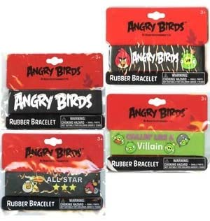 UP Angry Bird Rubber Bracelet [Contains 6 Manufacturer Retail Unit(s) Per SKU# ABRB