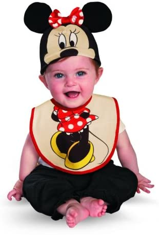 Disguise Drool Over Me Disney Minnie Mouse Infant Bib and Hat Costume