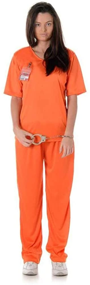 Correctional Facility Prisoner Jumpsuit Women's Costume