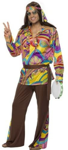 Smiffys Psychedelic Hippie Man Costume
