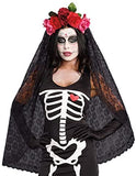 Dreamgirl Women's Dia de los Muertos Sugar Skull Costume Headpiece