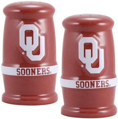 Football Fanatics Oklahoma Sooners Team Logo Salt & Pepper Shakers