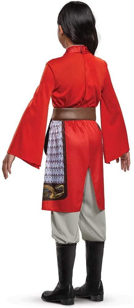 Mulan Costume for Girls, Disney Live Action Movie Hero Dress Up Character Outfit