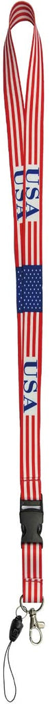 "28"" USA Flag Lanyard"