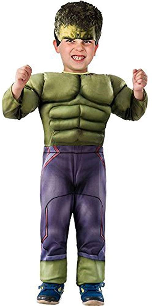 Marvel Avengers Hero HULK Muscle Chest Jumpsuit Toddler Boys Child Costume 3T-4T