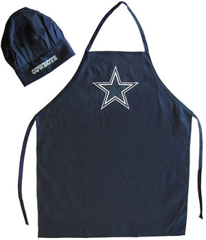 PSG unisex-adult Apron and Chef Hat Set NFL One Size, Dallas Cowboys Navy