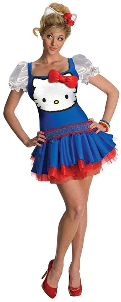 Hello Kitty Blue Classic Costume - X-Small - Dress Size 2-6