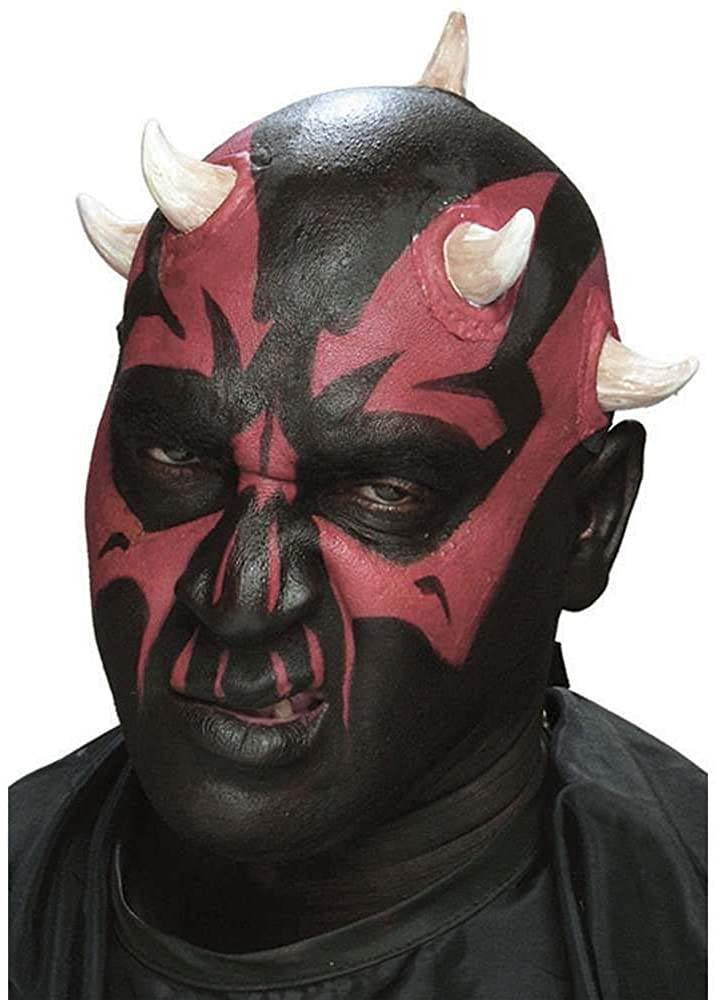Cinema Secrets Dark Sith Horns Prosthetic Appliance, Black,red, Standard