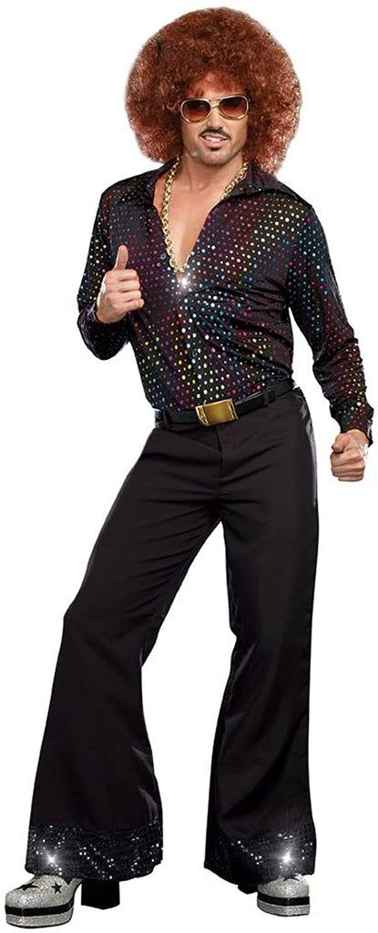 Dreamgirl Disco Dude Hologram Men's Plus Shirt
