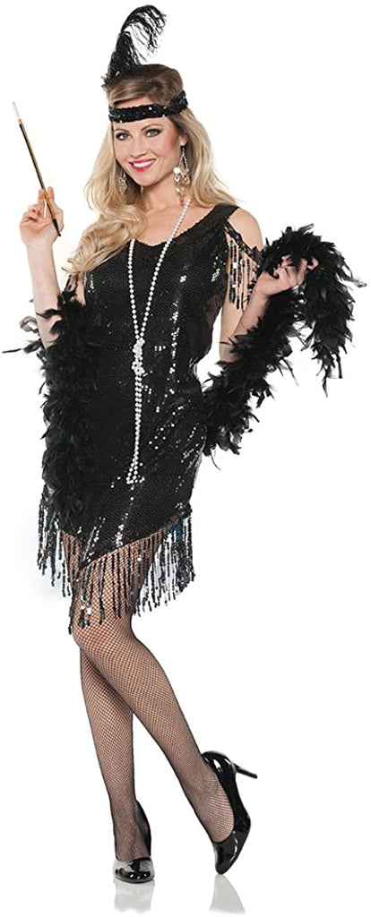 UNDERWRAPS Women's Flapper Costume - Swingin Black