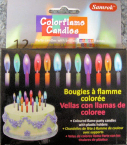 Colorflame Birthday Candles with Colored Flames!