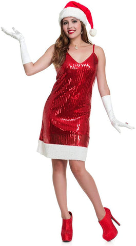 Charades Sequin Santa Hottie Costume XS (X-Large)
