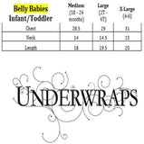 Underwraps Toddler's Halloween Pumpkin Belly Babies Costume