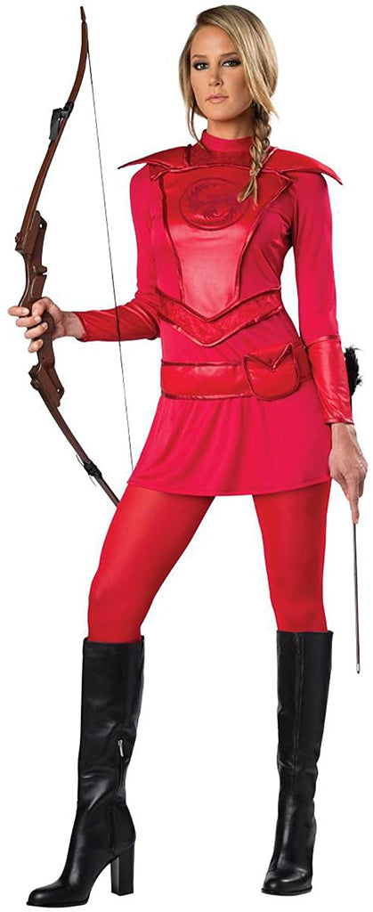 InCharacter Red Warrior Huntress Adult Costumes