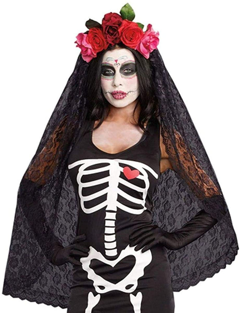 Day of the Dead Headpiece Costume Accessory