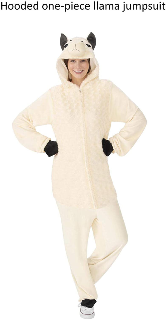 Rubie's Comfy Wear One-Piece Hooded Jumpsuit, Llama, Large/X-Large