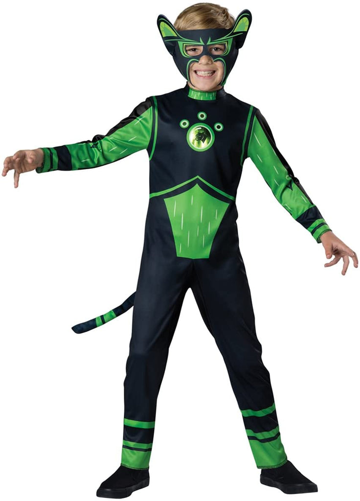 Fun World InCharacter Costumes Panther Value Costume, Green, Size 6