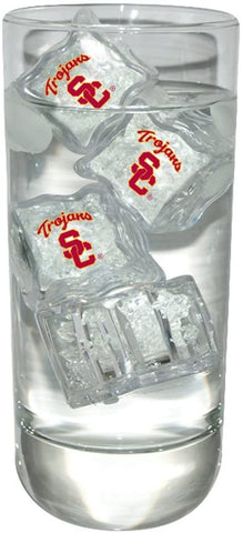 University of Southern California Set of 4 Light Up Ice Cubes by Fans With Pride