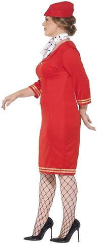 Smiffys Women's Plus Size Air Hostess Costume