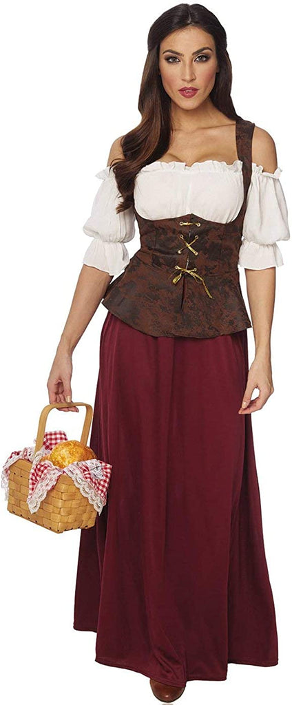 Peasant Lady Costume - Small - Dress Size 4-6