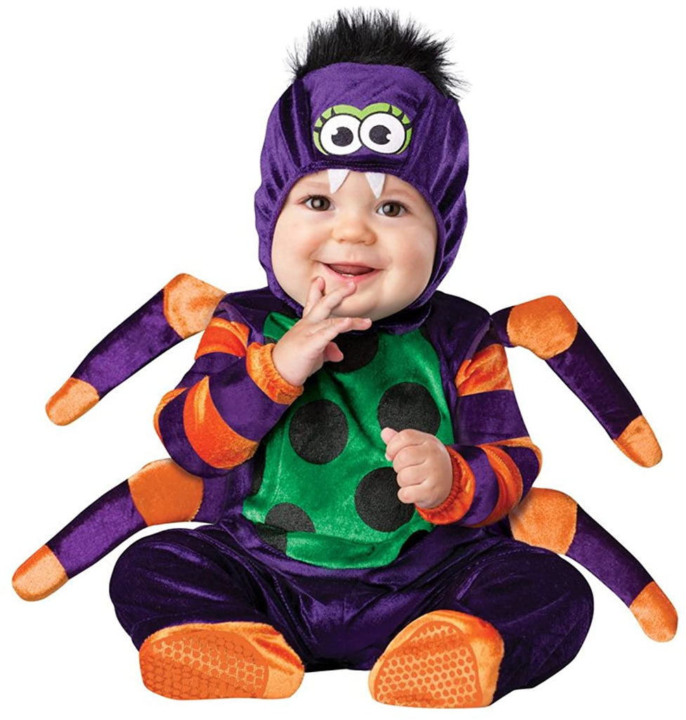 InCharacter Costumes Baby's Itsy Bitsy Spider Costume, Purple/Green/Orange/Black, Medium