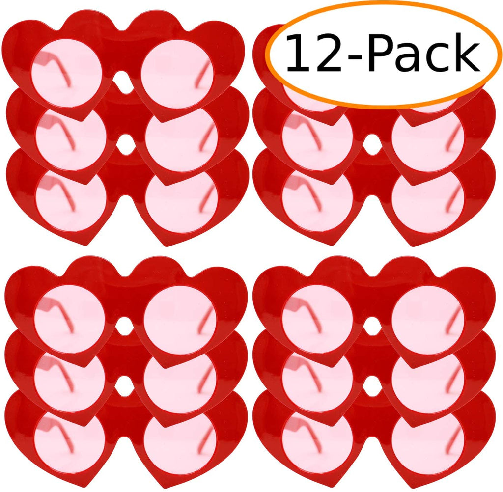 Red Heart Sunglasses Party Favor (12 Pack)