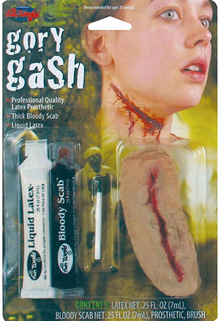 Fun World Scary Gross Zombie Neck Wound Halloween Costume Makeup Kit