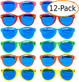"Fantasia Collections 10"" Jumbo Size Assorted Color Party Favor Sunglasses 12 ct"