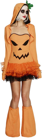 Smiffys Fever Pumpkin Costume Tutu Dress