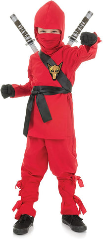 UNDERWRAPS Costumes Children's Red Ninja Costume, Small 4-6 Childrens Costume