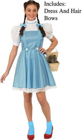Rubie's Costume Women's Wizard Oz Adult Dorothy Dress Hair Bows
