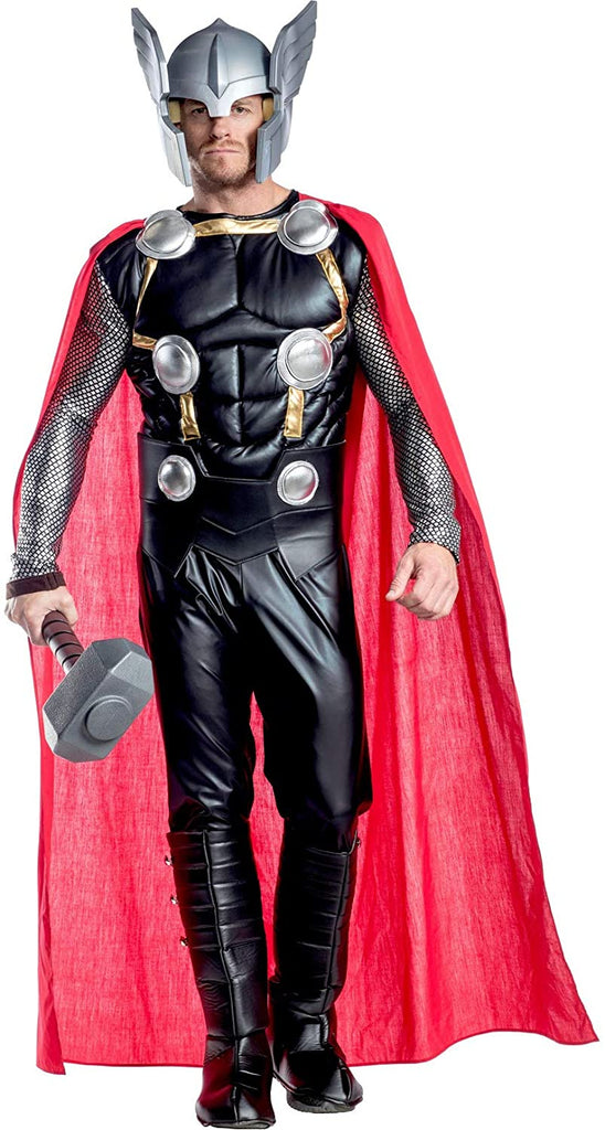 Charades Men's Marvel Thor Costume, As Shown, Large