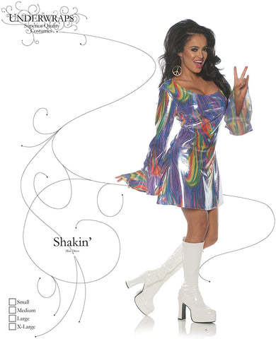 Underwraps Shakin Womens Adult Disco Diva Costume