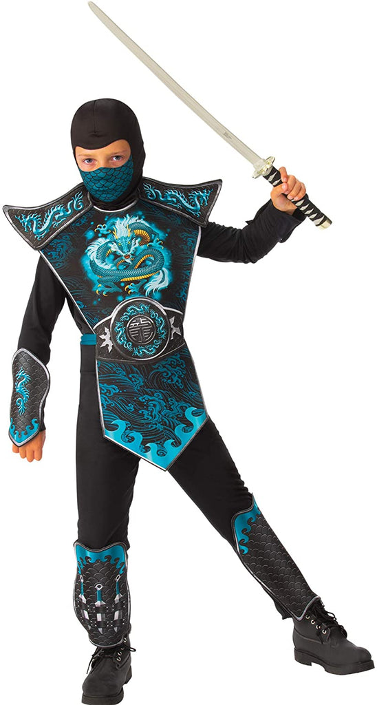 Rubie's Boy's Blue Dragon Ninja Costume, Large