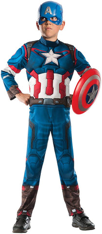 Avengers Ultron Captain America Muscle Costume Boy`s Size Medium 8-10