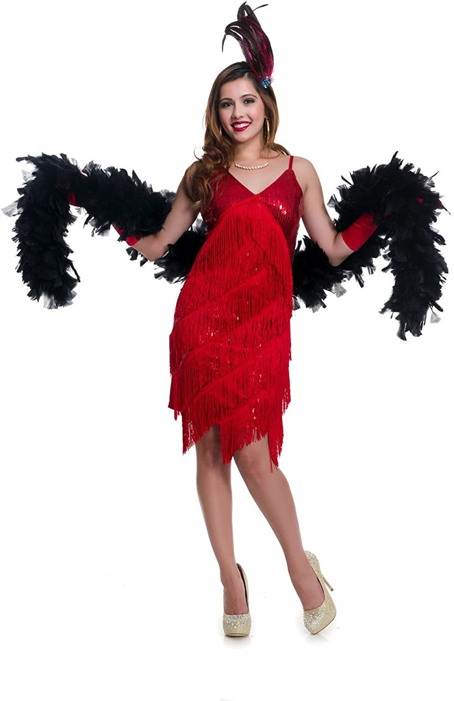 Charades Women's Roaring 20'S Babe Costume, red, X-Small
