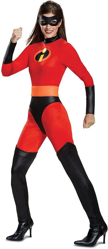 Disguise Women's Mrs. Incredible Classic Adult Costume, red, M (8-10)