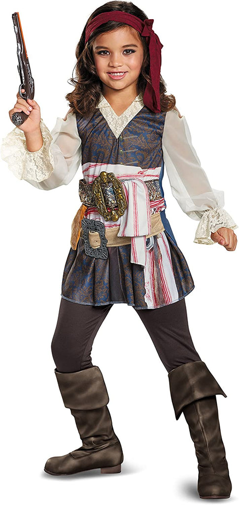 Disguise POTC5 Captain Jack Sparrow Girl Classic Costume