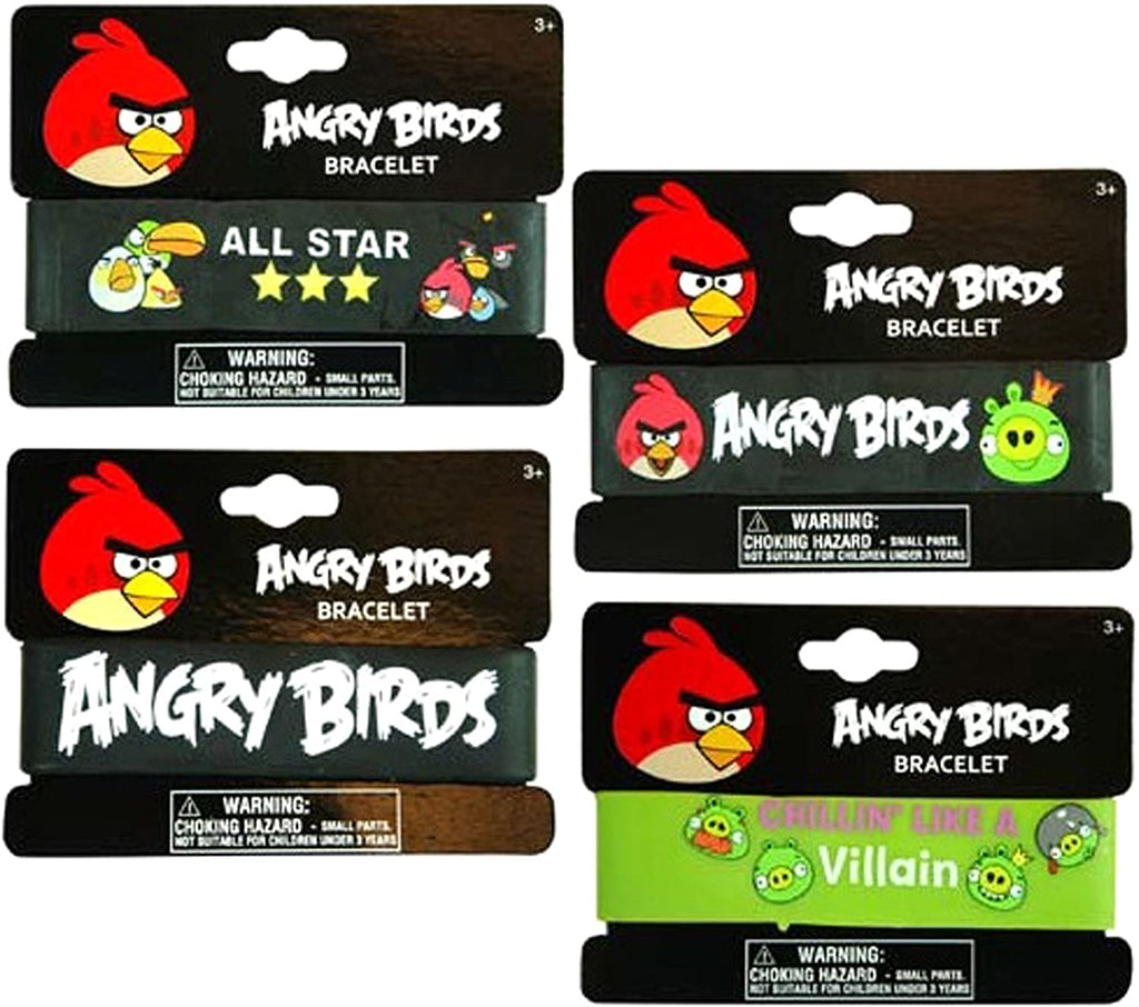 UPD INC 222060 Angry Birds Rubber Bracelet - Black/Green