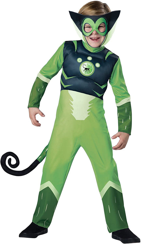 Wild Kratts Spider Monkey-Green Costume, Medium
