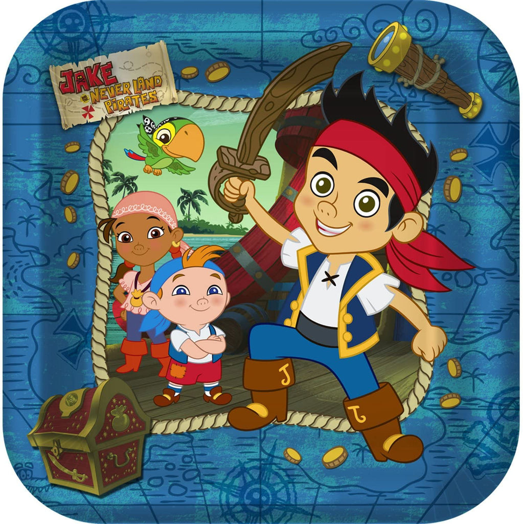 Hallmark BB021919 Jake And The Never Land Pirates Dinner Plates - 8-Pack