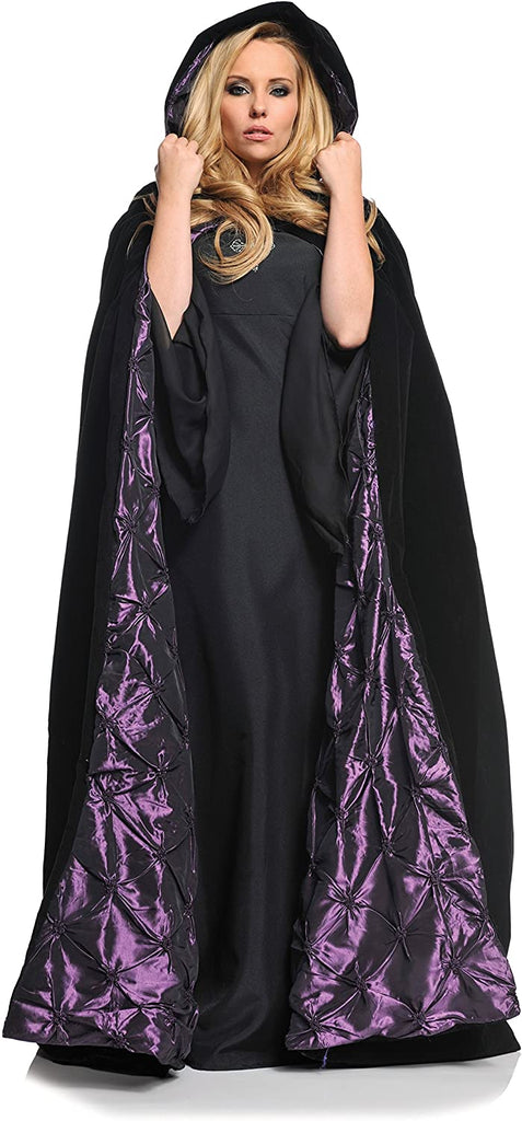 "Underwraps Deluxe Velvet and Satin with Embossed Satin Lining 63"" Adult Cape"