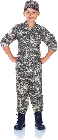 UNDERWRAPS Children's Army Camo Set Costume - Camouflage, Medium (6-8)