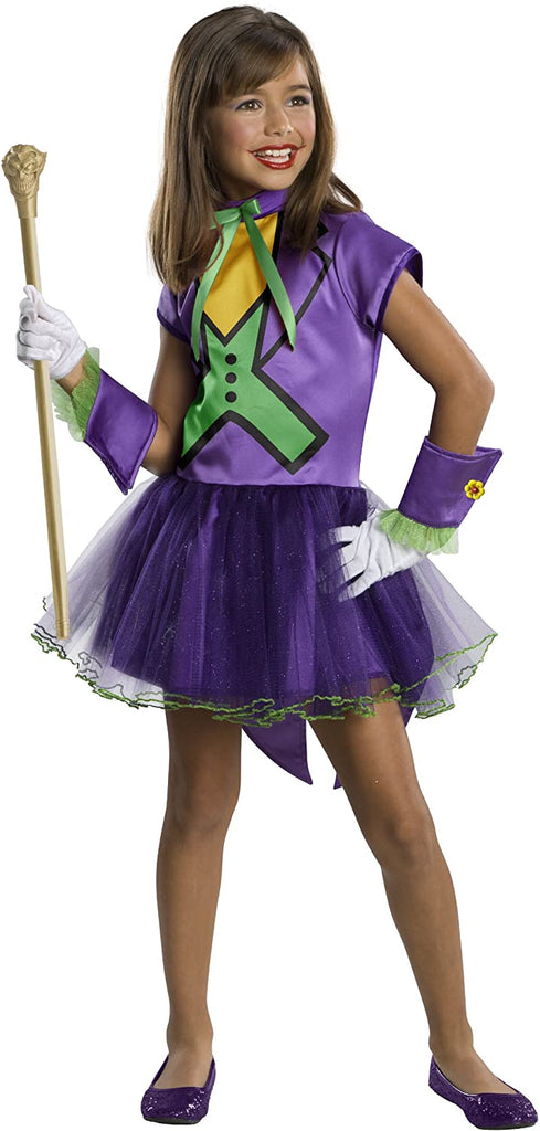 DC Super Villain Collection Joker Girl's Costume with Tutu Dress
