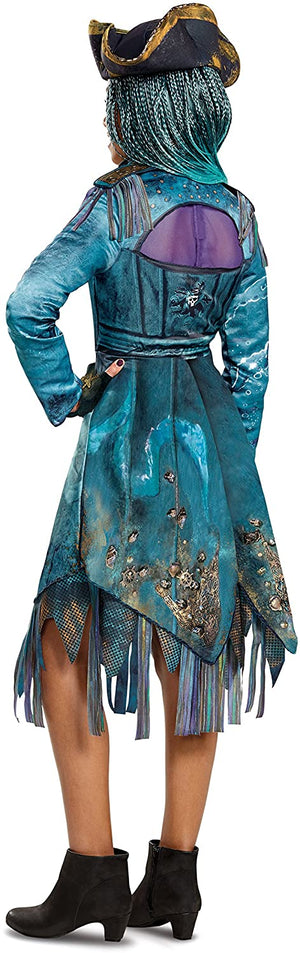 Disguise 24151G Uma Deluxe Descendants 2 Costume, Teal, Large (10-12)