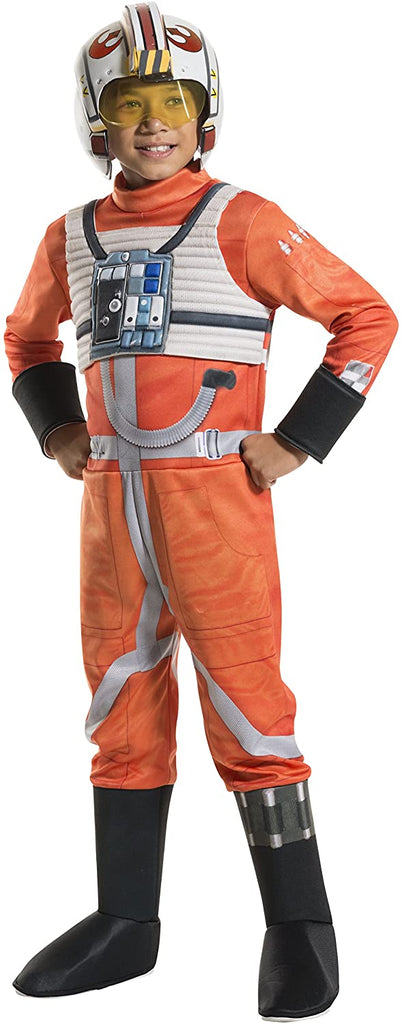 Rubie's Costume Kids Classic Star Wars Deluxe X Wing Fighter Pilot Costume, Medium