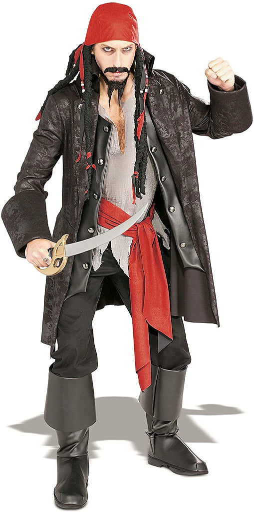 Rubie's Deluxe Captain Cutthroat Costume, As shown, Standard