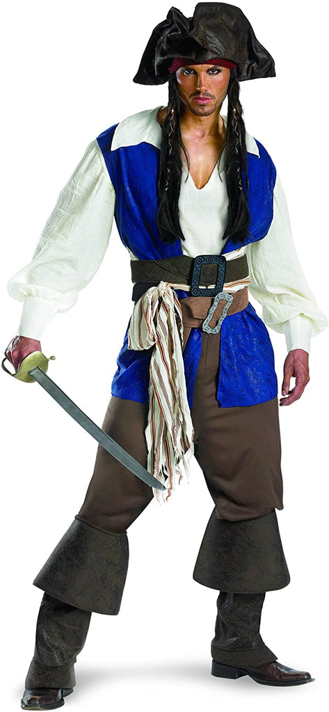 Disguise Unisex - Adult Deluxe Teen Captain Jack Sparrow