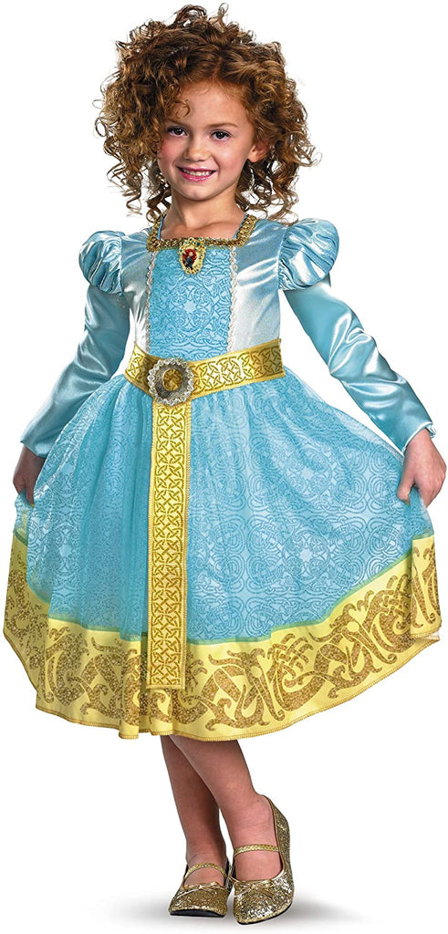 Brave Merida Deluxe Costume, Auqa/Gold, Small